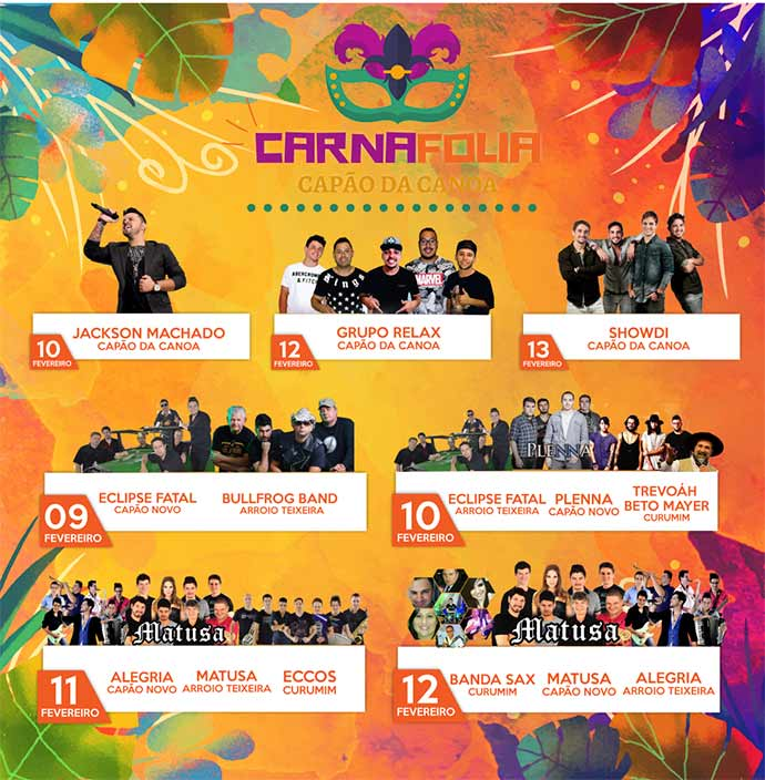 carnafolia capão da canoa  - Programação de Carnaval em Capão da Canoa