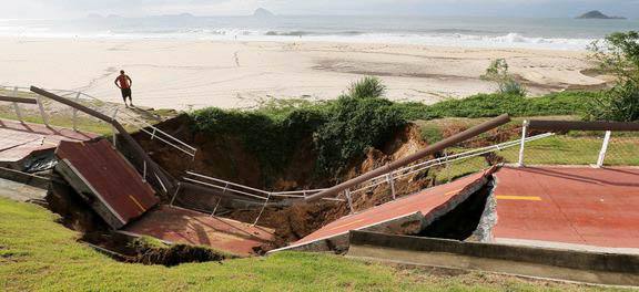 ciclovia rio desaba - Após temporal, prefeitura do Rio recomenda evitar deslocamentos