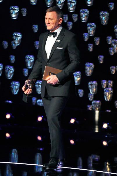 daniel craig - Burberry veste convidados do BAFTA 2018