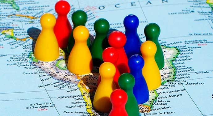 mapa - Fundação Getulio Vargas aponta melhora em clima econômico da América Latina