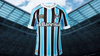 novo uniforme grêmio 390x220 - Grêmio e Umbro apresentam novo uniforme