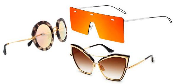 9d07d0f16fb6d Armações de óculos de sol que se destacam nas prateleiras de luxo ...