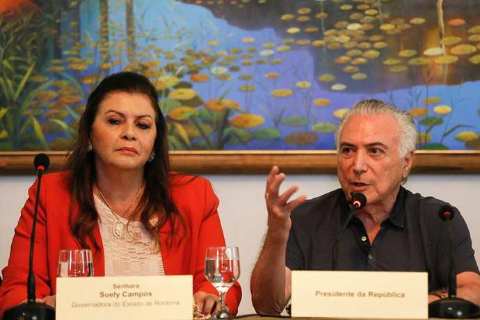 temer roraima - Em Roraima, Temer anuncia grupo para tratar da crise migratória dos venezuelanos