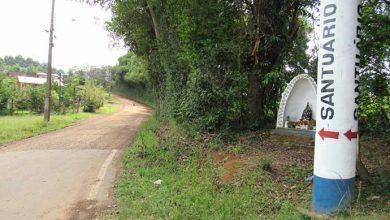 Acesso ao santuário da Conceição que será asfaltado 390x220 - Encontro debate turismo regional no Vale do Caí