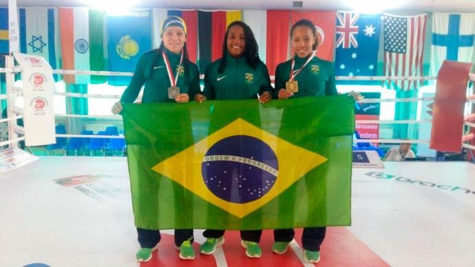 Boxe feminino do Brasil conquista duas medalhas na Polônia - Boxe feminino do Brasil conquista duas medalhas na Polônia