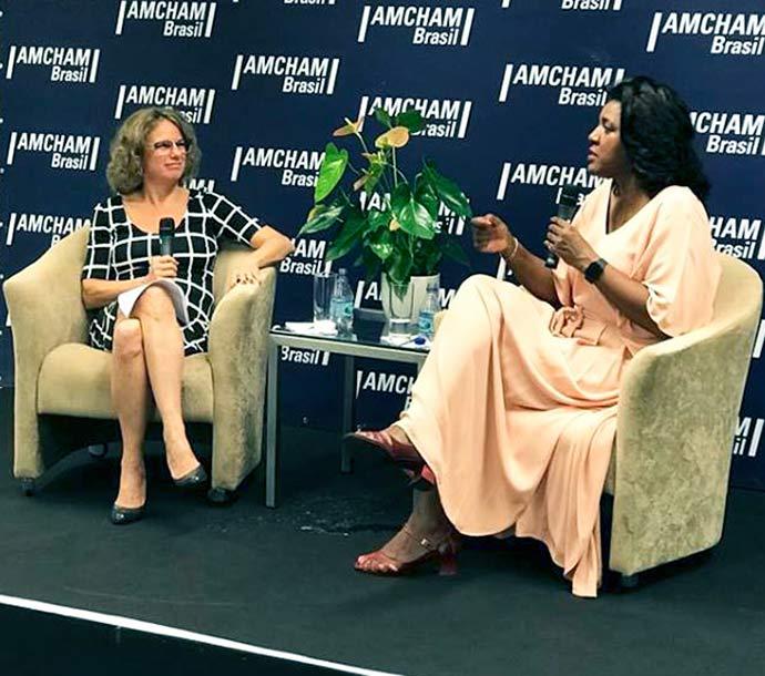 CEO da AMCHAM e RACHEL MAIA 1 - Na Amcham, Rachel Maia anuncia saída da presidência da PANDORA