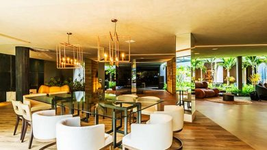 Casa Cor Brasilia 2017 mesa Vidro extragrosso e pilar Espelho Vivânce 4 390x220 - Vidros Vivânce na Expo Revestir