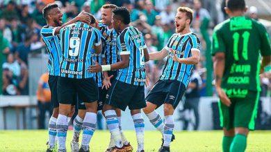 Grêmio goleia Avenida 390x220 - Grêmio goleia o Avenida e constrói vantagem para o jogo de volta