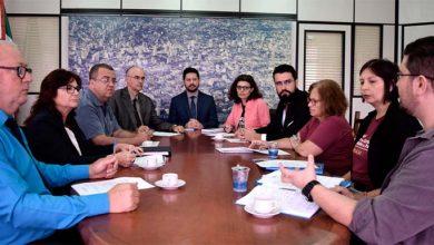 Photo of Representantes da Prefeitura e do SindprofNH realizam reunião