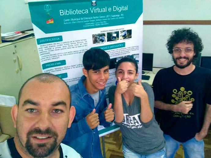 alunos sapiranga - Alunos de Sapiranga levam projeto inovador à feira em São Paulo