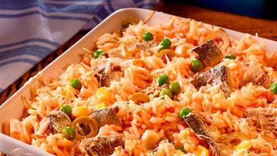 arroz de forno com sardinha 390x220 - Arroz de Forno com Sardinha
