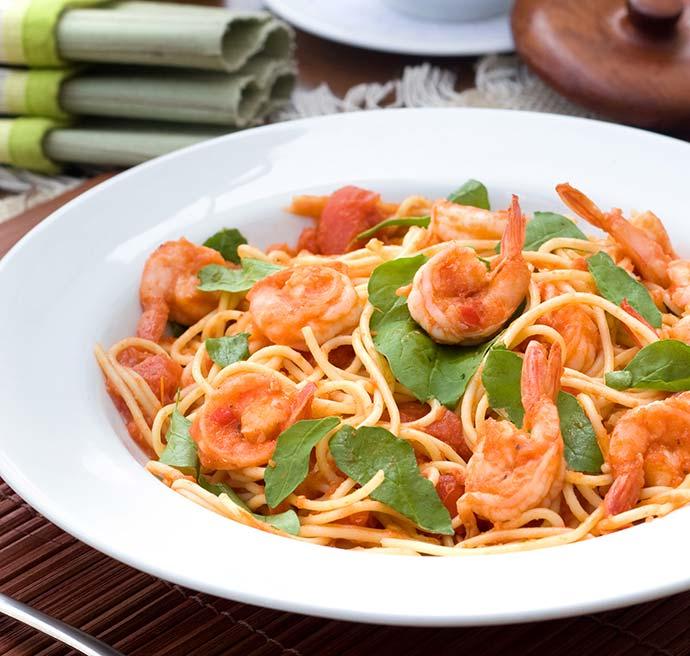 espaguete com camarao viena - Receita de spaghetti com camarão