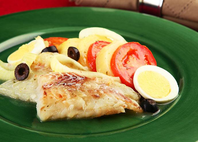 peixe de forno KNORR - Peixe de forno com legumes
