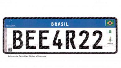 placa veicular mercosul 1 390x220 - Denatran divulga lista de fabricantes de placas de veículos