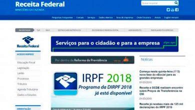 site receita federal 0 390x220 - Cronograma de pagamentos da Restituição do Imposto de Renda 2018