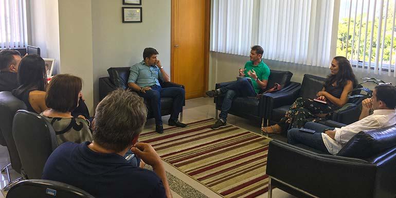 Acibalc Na Prefeitura de Balneário Camboriú - Acibalc discute políticas públicas com prefeito de Balneário Camboriú