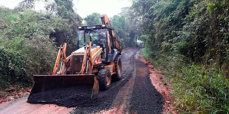 Estrada do Morro do Paula São Leopoldo - Estrada do Morro do Paula está liberada após chuva intensa