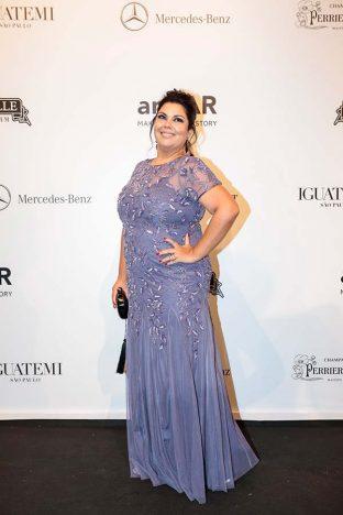 Fabiana Karla 3 312x468 - Baile de gala do amfAR reuniu famosos em São Paulo