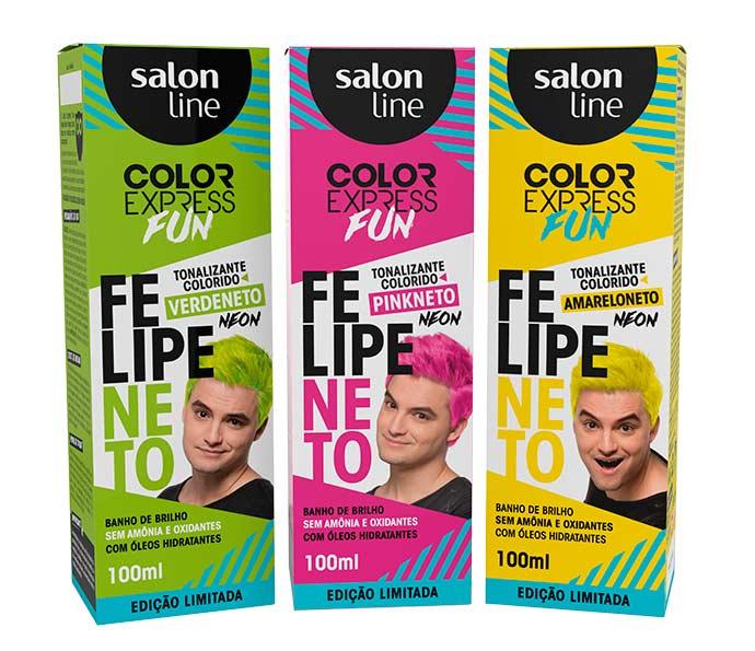 Felipe Neto  - Color Express Fun Felipe Neto é novidade da Salon Line