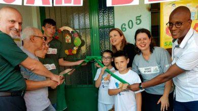 Fita inaugural foi cortada pela prefeita Fátima CRAS SANTO AFONSO 1 390x220 - Prefeitura faz a entrega oficial à comunidade das novas instalações do Cras Santo Afonso