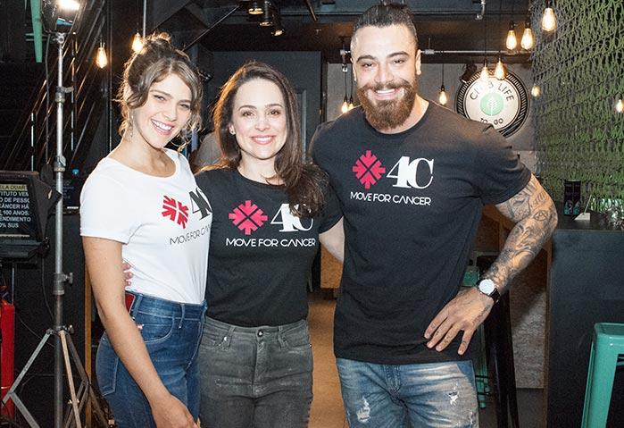 Gabriela Duarte Felipe Tito e Isabela Sansoni - Move4Cancer reúne Gabriela Duarte, Felipe Tito e Isabela Santoni