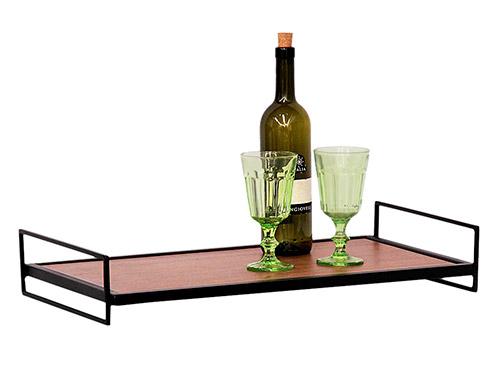 MinD BANDEJA MADEIRA FERRO R 29900 - MinD lança produtos para fazer seu Home Bar