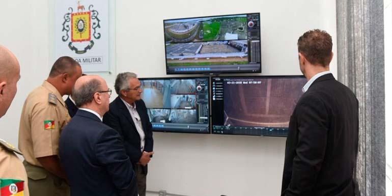 Penitenciária Estadual do Jacuí inaugura sistema de videomonitamento - Penitenciária Estadual do Jacuí inaugura sistema de videomonitamento