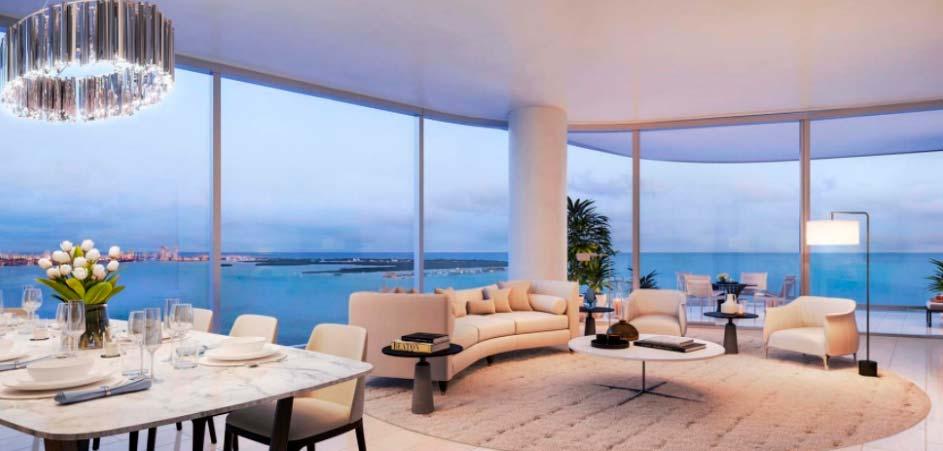 Una Residences em Miami EUA 1 - No topo: Edifício em Miami tem unidades de até US$ 5 milhões