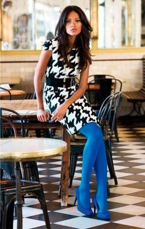 azul 296x468 - Tendências Pinterest | Meia-calça colorida