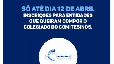 comitesinos 390x220 - Últimos dias para inscrição de entidades que queiram disputar vagas no Comitesinos