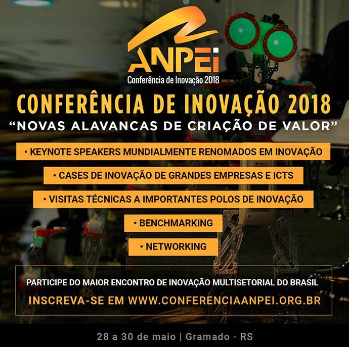 ce4b431b13f4 Conferência Anpei de Inovação 2018 está com inscrições abertas ...