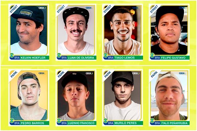 convocacao masculina - Seleção Brasileira de Skate 2018 é divulgada