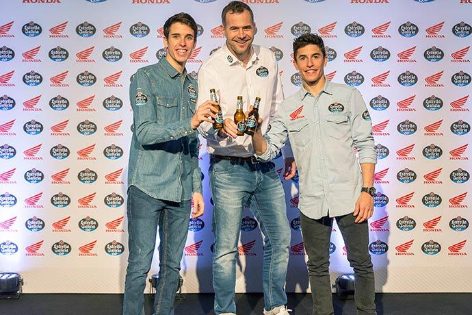 juan paz  diretor da estrella galicia  recepcionou os pilotos - Irmãos Márquez falam sobre a temporada da motovelocidade