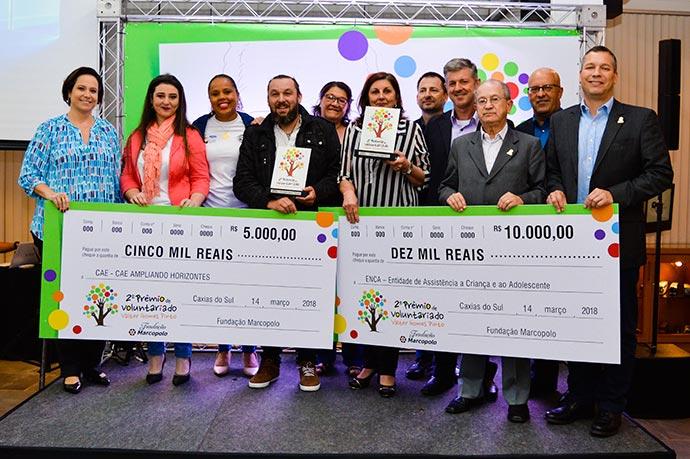 marcopolo premiovoluntariado valtergomespinto2018 - Fundação Marcopolo reconhece melhores projetos do Prêmio de Voluntariado Valter Gomes Pinto