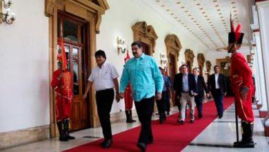 moraduro 390x220 - Morales e Maduro discutem intercâmbio durante encontro em Caracas