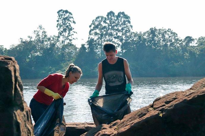rio taquari - Projeto Viva o Taquari-Antas Vivo retira 400 kg de lixo do Rio Taquari