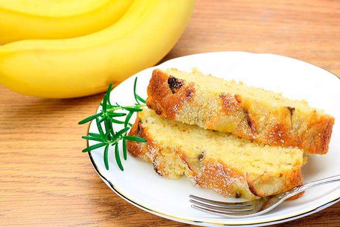 Bolo de Banana  - Receita fácil de bolo de banana