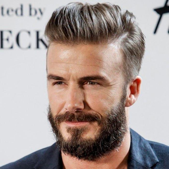 David Beckham  - Cuidados com a barba durante o inverno