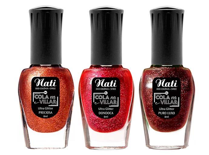 NATI COLA NA VILLAR coleção ULTRAGLITTERS - Nati amplia sua linha Cola na Villar com oito novas cores