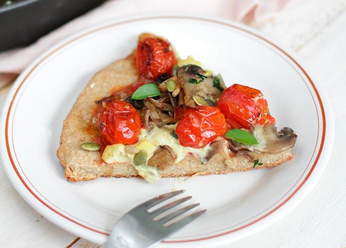 PIZZA VEGANA E SEM GLÚTEN 1 - Receita de massa pizza vegana e sem glúten