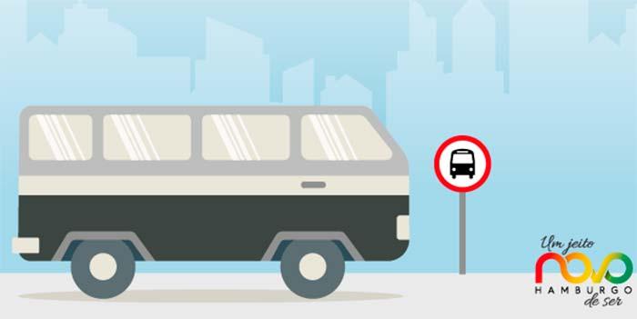 Pontos de embarque e desembarque dos ônibus no centro de Novo Hamburgo - Obras alteram pontos de embarque e desembarque dos ônibus em NH
