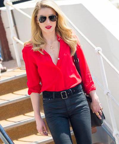 amber heard web  - Amber Heard e Doutzen Kroes usam Polaroid em Cannes