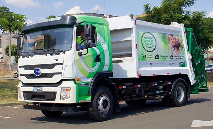 byd caminhaocoletor 1 - Empresa paulista é pioneira ao adotar frota de caminhões 100% elétricos