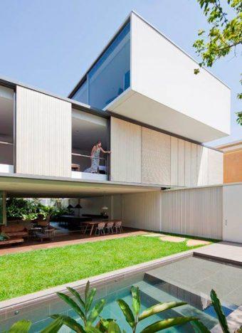 casa belgica3 340x468 - Casa Bélgica: área social liberada de paredes e integrada ao jardim