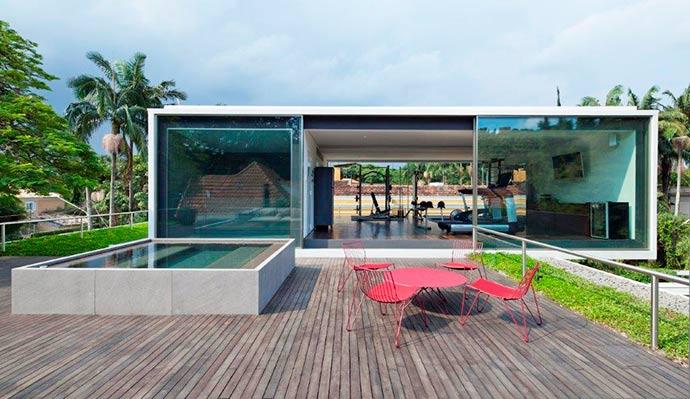casa belgica6 - Casa Bélgica: área social liberada de paredes e integrada ao jardim
