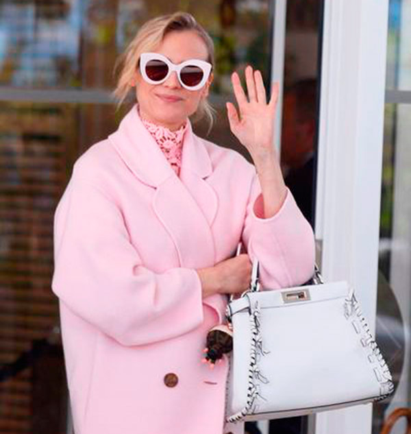 fendi sunglasses and peekaboo for diane kruger web  - Diane Krueger usa óculos Fendi em Cannes