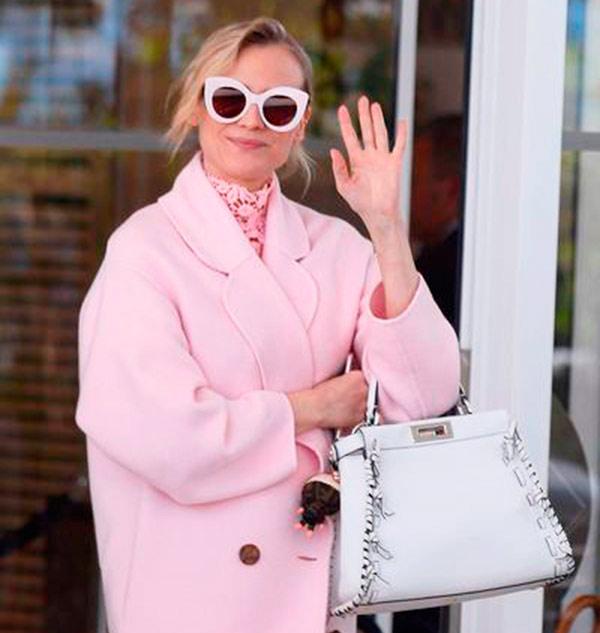 fendi sunglasses and peekaboo for diane kruger web - Diane Krueger usa  óculos Fendi em Cannes 870ab247f8
