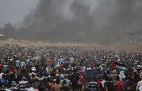 gaza - Violência em Gaza: pelo menos 417 feridos no segundo dia de manifestações