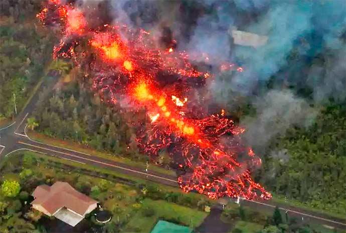kilauea - Vulcão deixa 26 casas destruídas no Hawaí