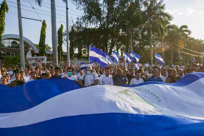 protesto em managua - OEA conclui que mortes na Nicarágua chegam a 76